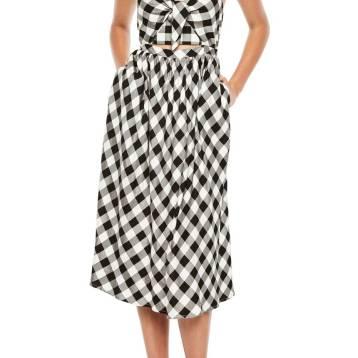 Nordstrom, Bardot Ibiza Check Dress with Cutout; $109