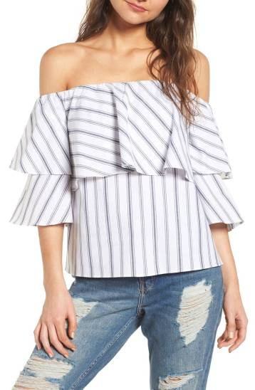 Nordstrom, WAYF Off Shoulder Top; $65